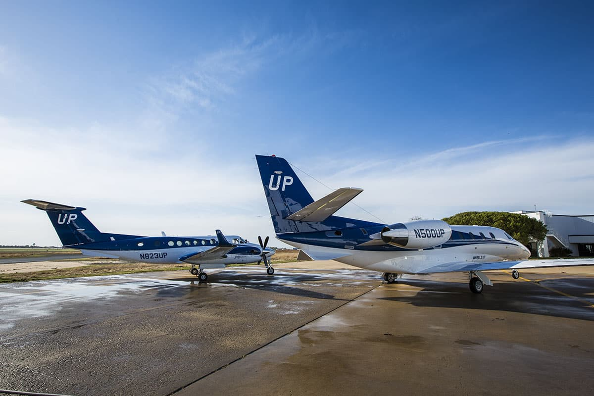 Gama Aviation & Wheels Up fly 100,000th segment