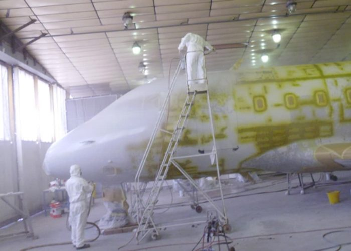 Aircraft paint shop