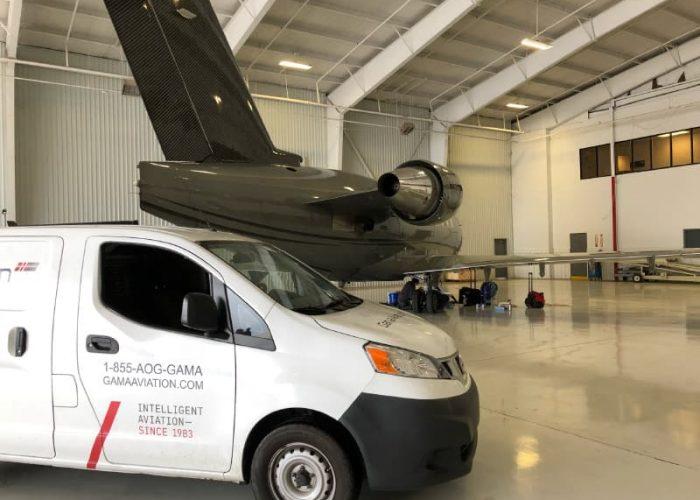 Business jet AOG assistance