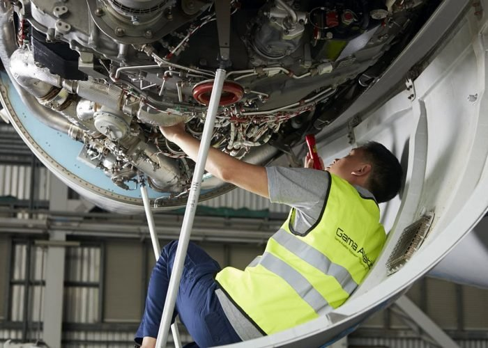 Business jet maintenance