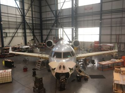 Gama Aviation starts first 96 month check at Bournemouth International