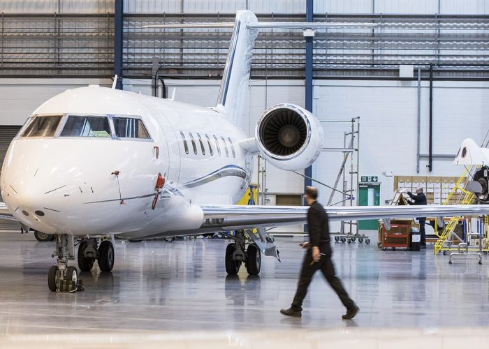 Bombardier Challenger Bournemouth Hangar