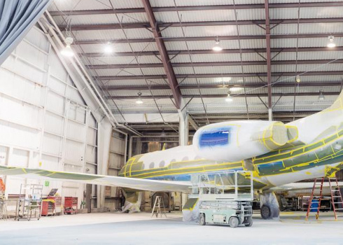 Aircraft paint shop 1