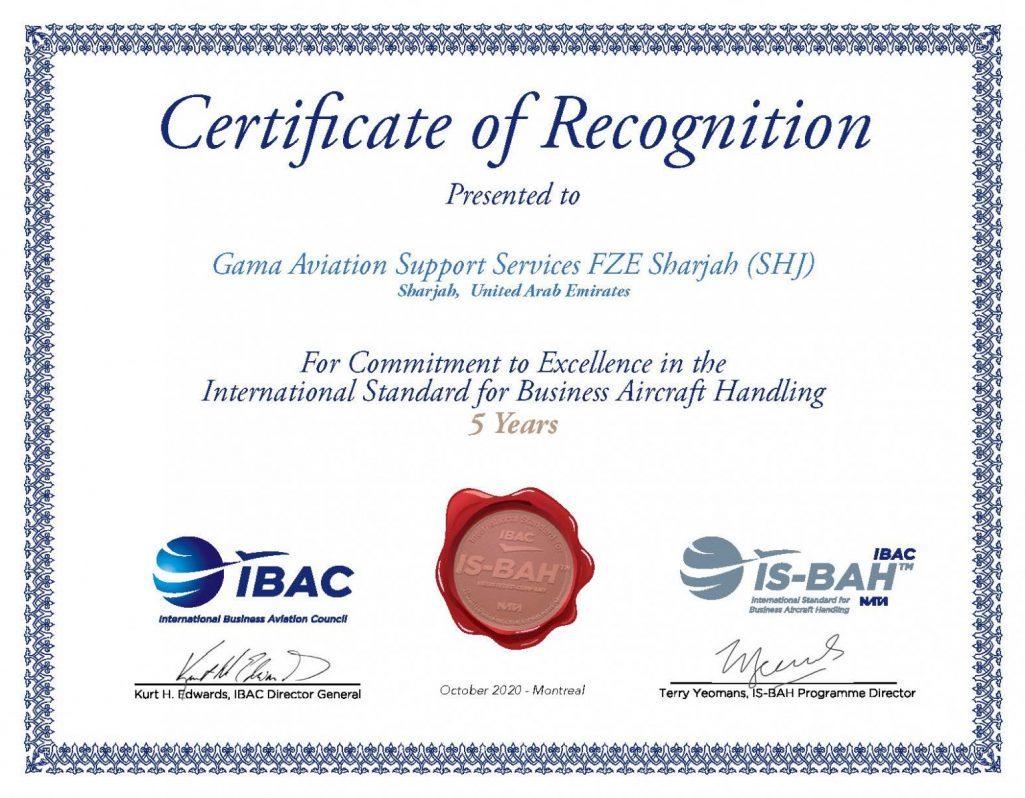 ISBAH Certificate